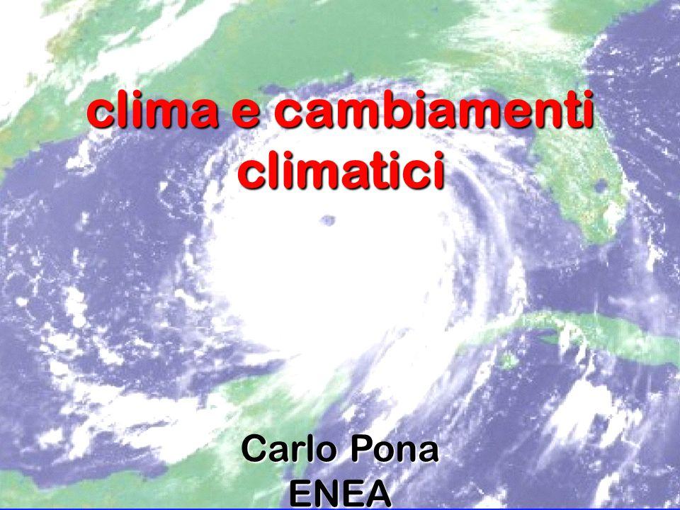 clima e cambiamenti climatici