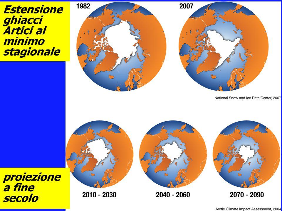 Estensione ghiacci Artici al minimo stagionale