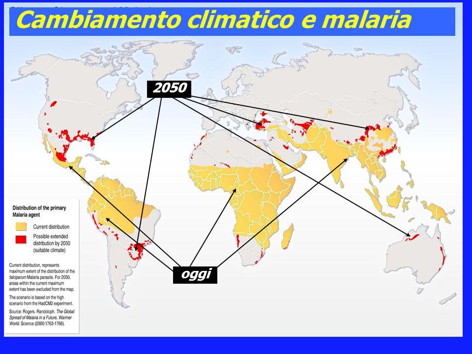 Cambiamento climatico e malaria