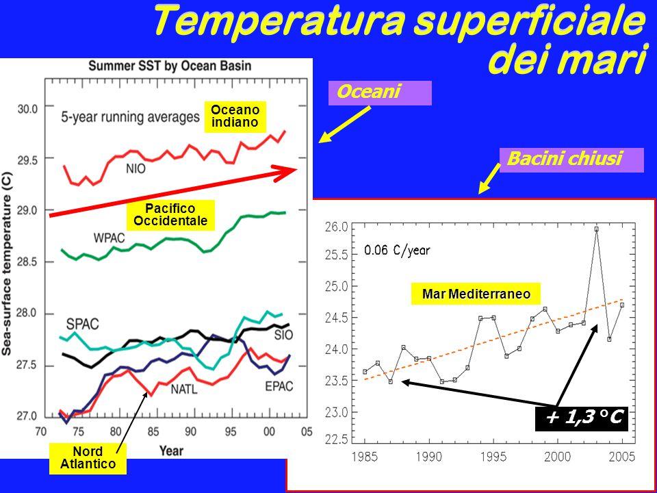 Temperatura superficiale dei mari
