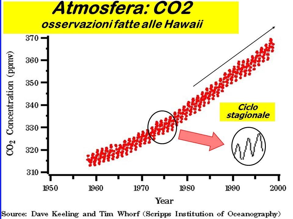 Atmosfera: CO2 osservazioni fatte alle Hawaii