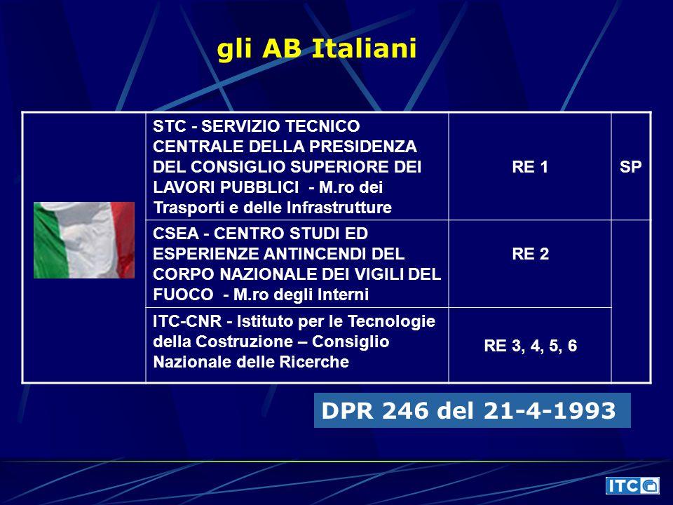 gli AB Italiani DPR 246 del 21-4-1993