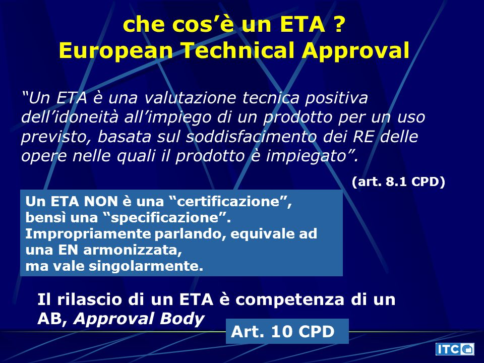 European Technical Approval