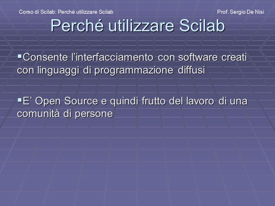 Perché utilizzare Scilab