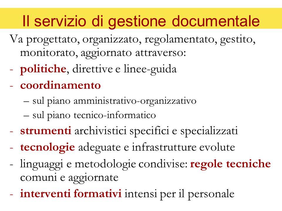 Il servizio di gestione documentale