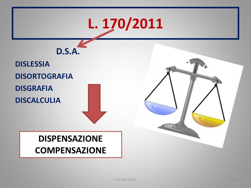 L. 170/2011 D.S.A. DISPENSAZIONE COMPENSAZIONE DISLESSIA DISORTOGRAFIA