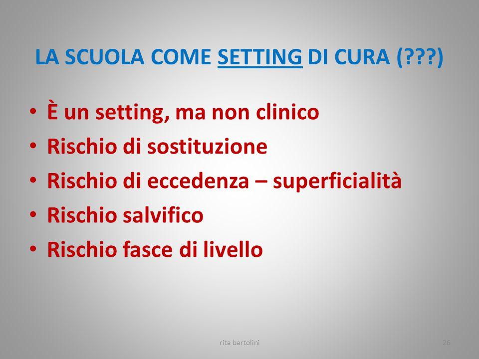 LA SCUOLA COME SETTING DI CURA ( )