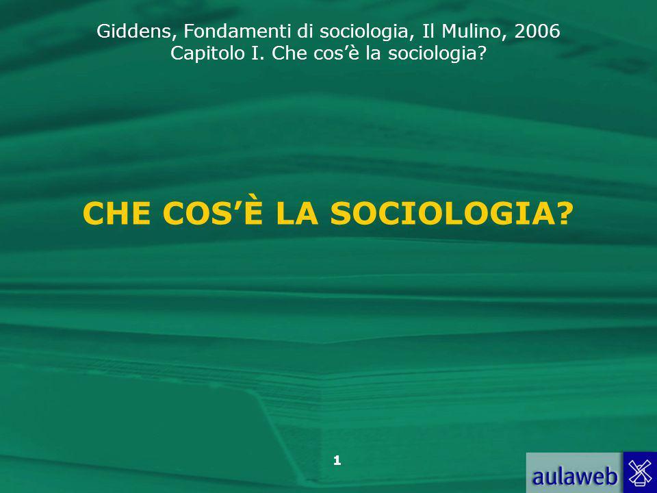 CHE COS'È LA SOCIOLOGIA