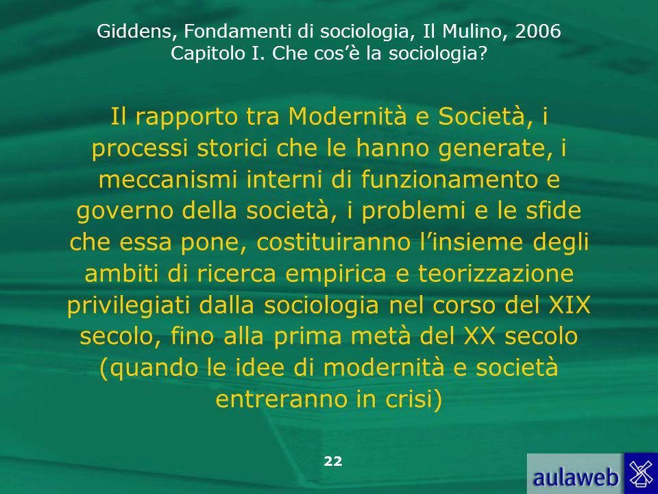 Il rapporto tra Modernità e Società, i