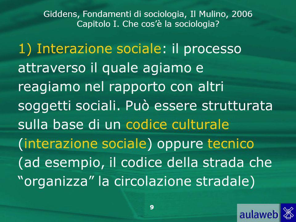1) Interazione sociale: il processo