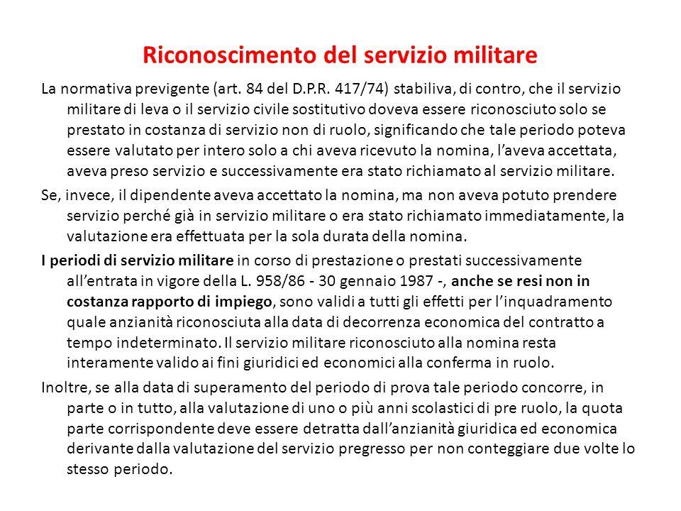 Riconoscimento del servizio militare