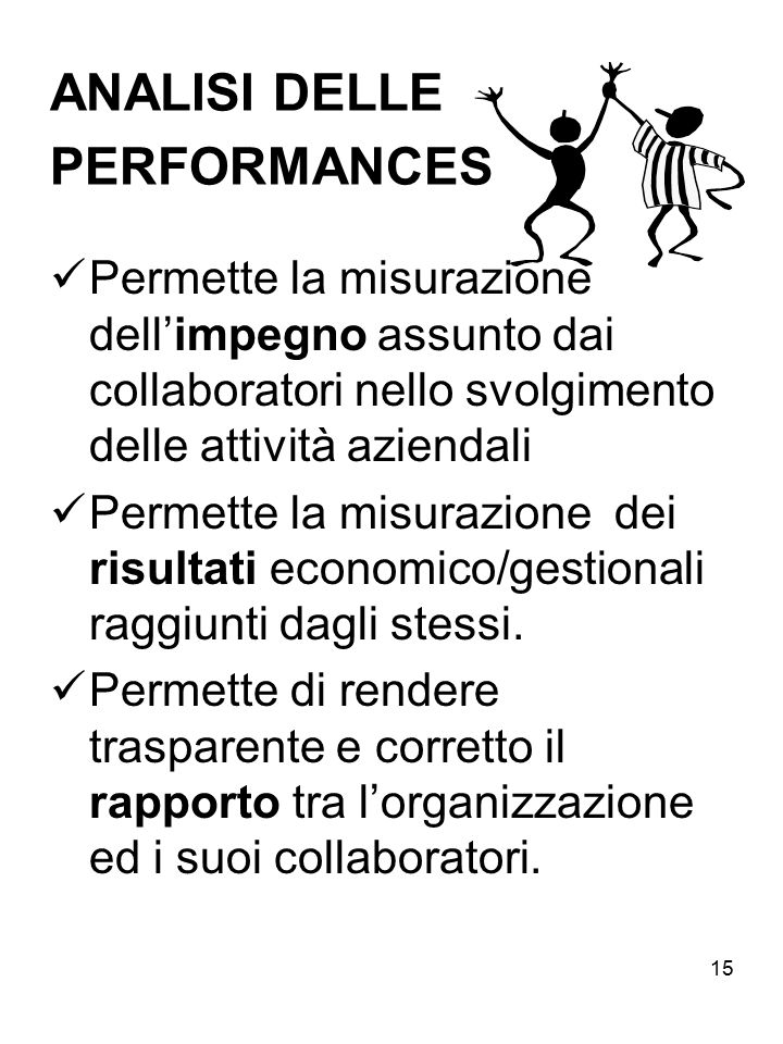 ANALISI DELLE PERFORMANCES