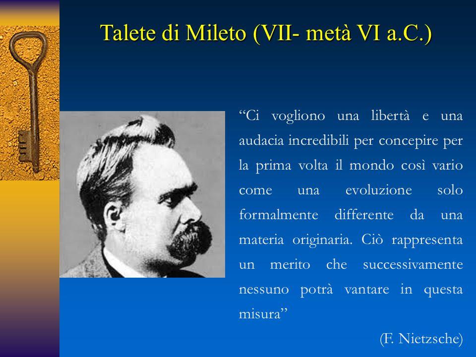 Talete di Mileto (VII- metà VI a.C.)