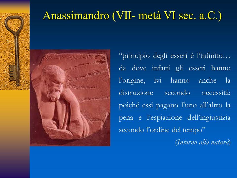 Anassimandro (VII- metà VI sec. a.C.)