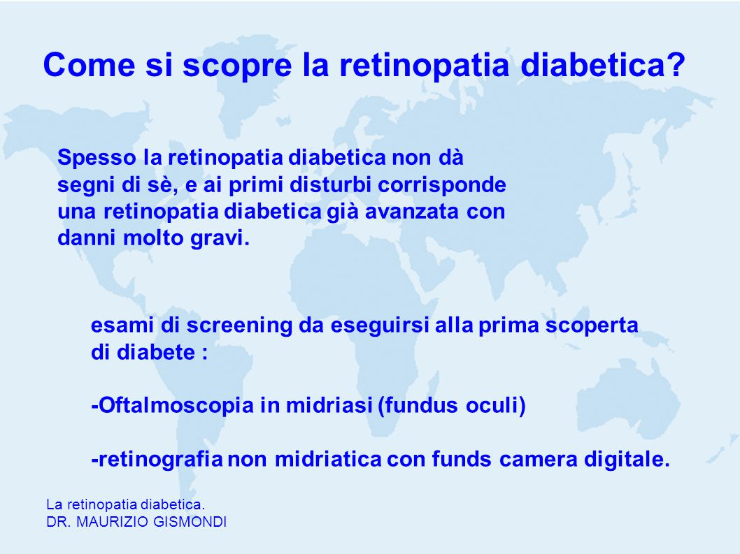 Come si scopre la retinopatia diabetica