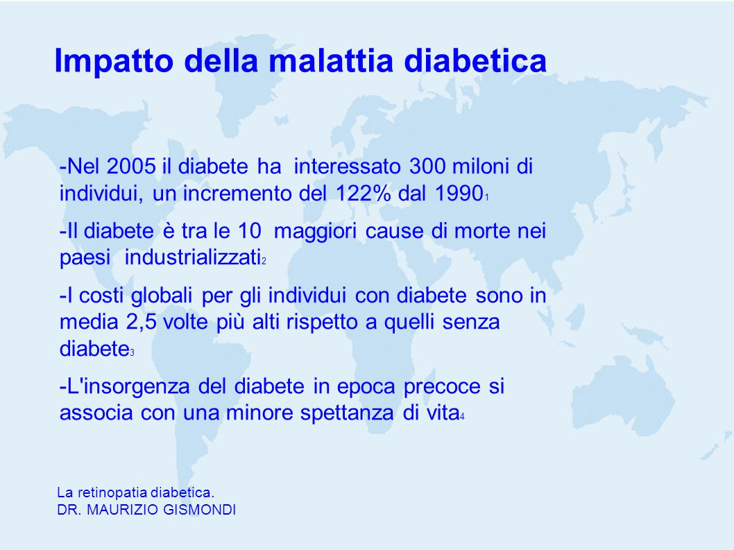 Impatto della malattia diabetica