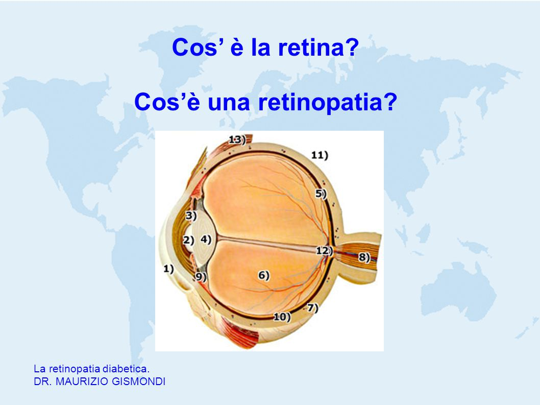 Cos' è la retina Cos'è una retinopatia
