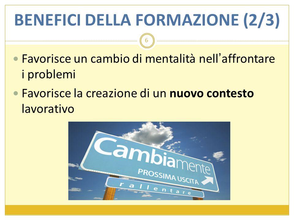 BENEFICI DELLA FORMAZIONE (2/3)