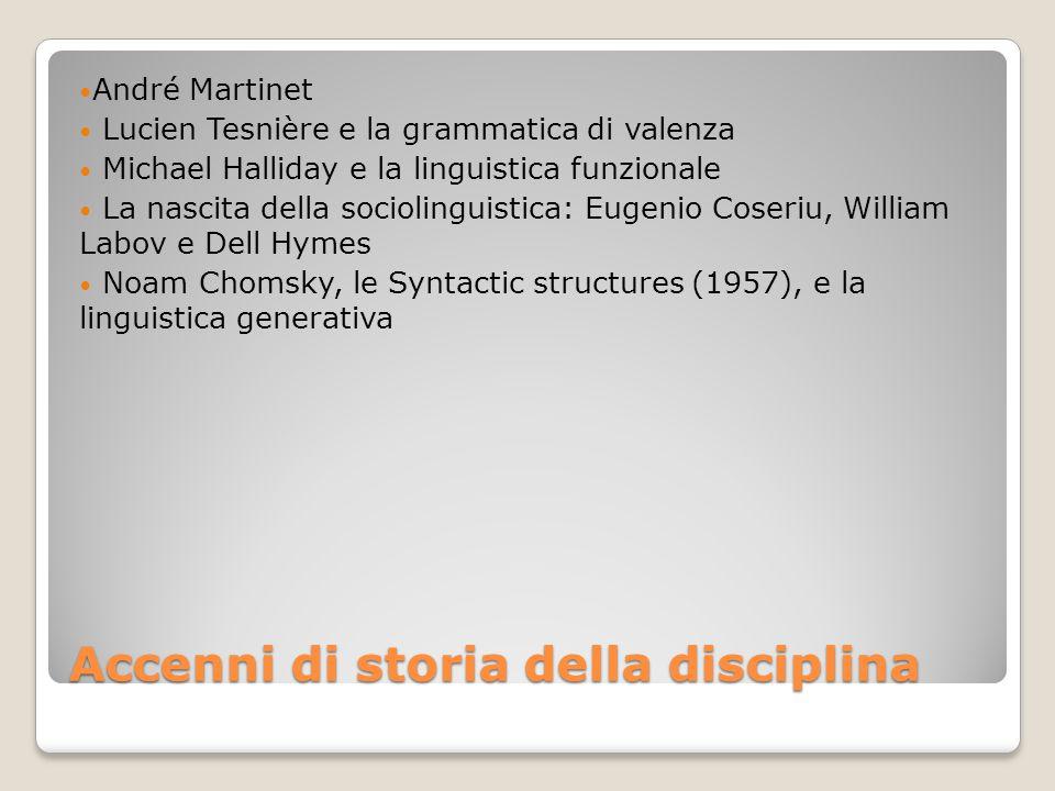 Accenni di storia della disciplina