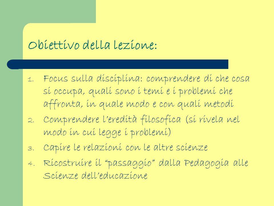 Obiettivo della lezione: