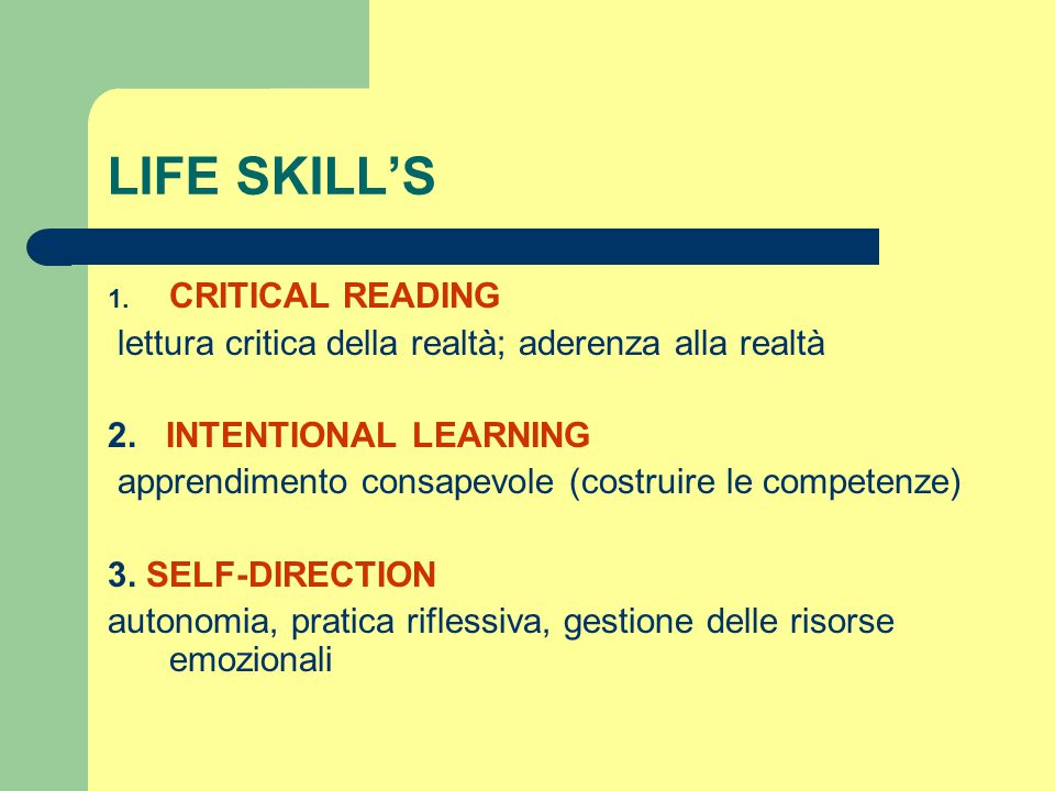 LIFE SKILL'S CRITICAL READING