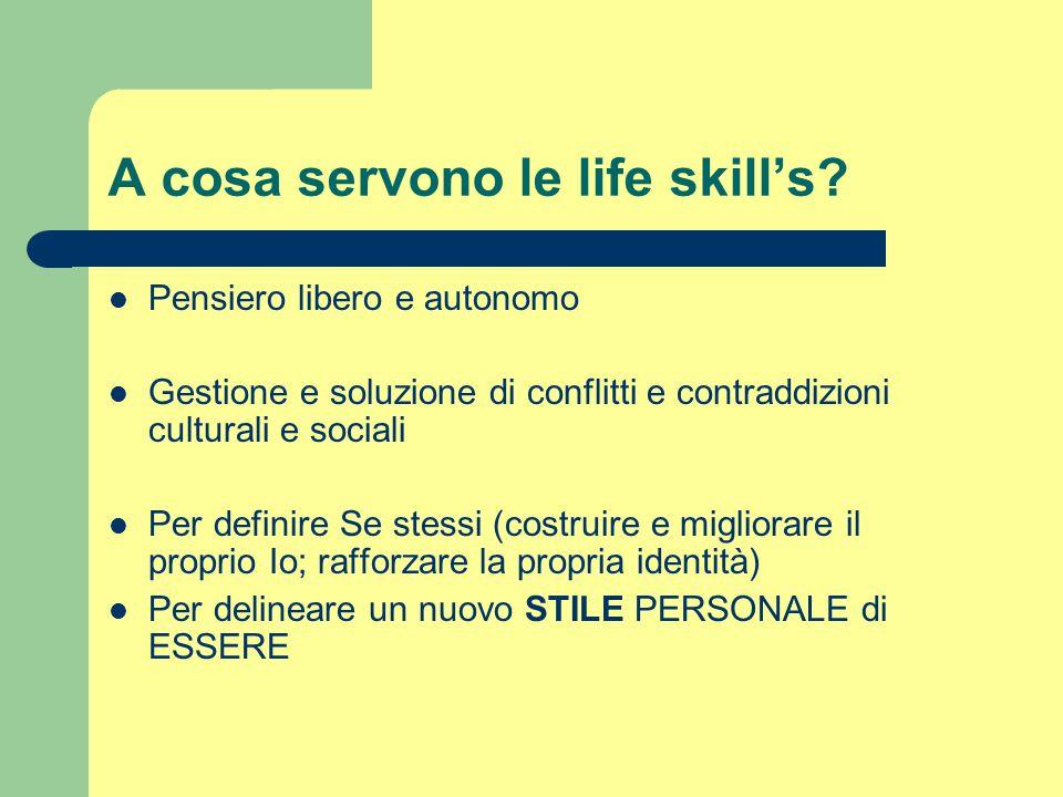 A cosa servono le life skill's