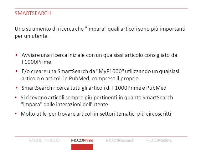 SmartSearch ricerca tutti gli articoli di F1000Prime e PubMed
