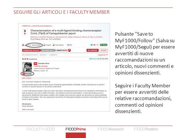 Seguire gli articoli e i Faculty Member