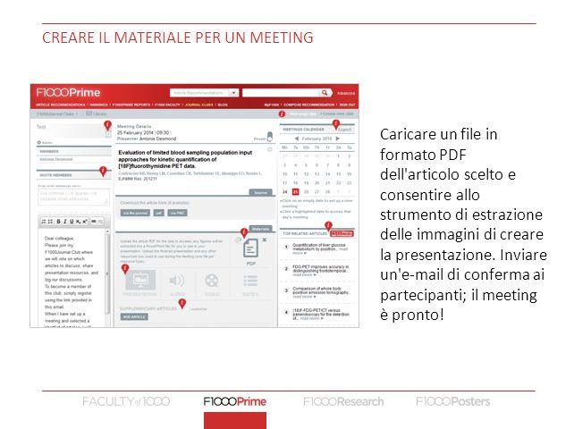 Creare il materiale per un meeting