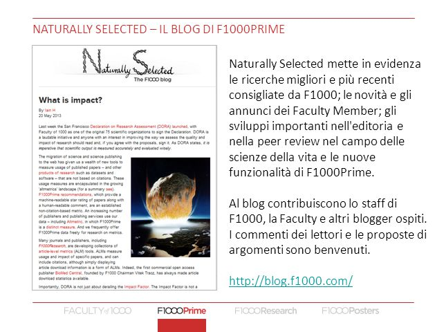 Naturally selected – Il blog di f1000prime
