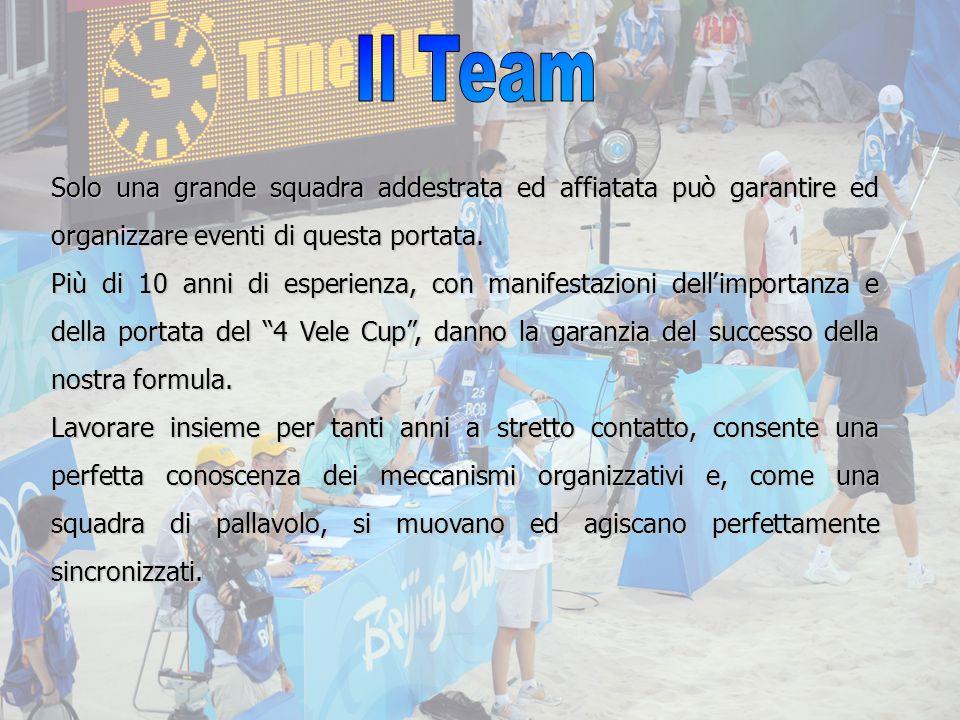 Il Team Solo una grande squadra addestrata ed affiatata può garantire ed organizzare eventi di questa portata.
