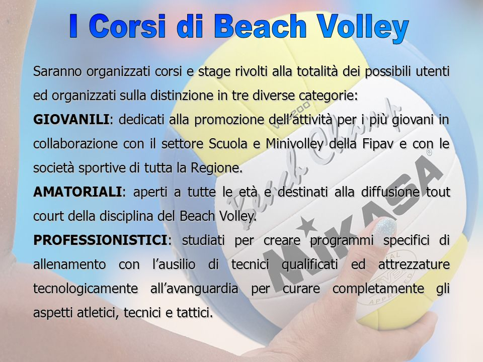 I Corsi di Beach Volley