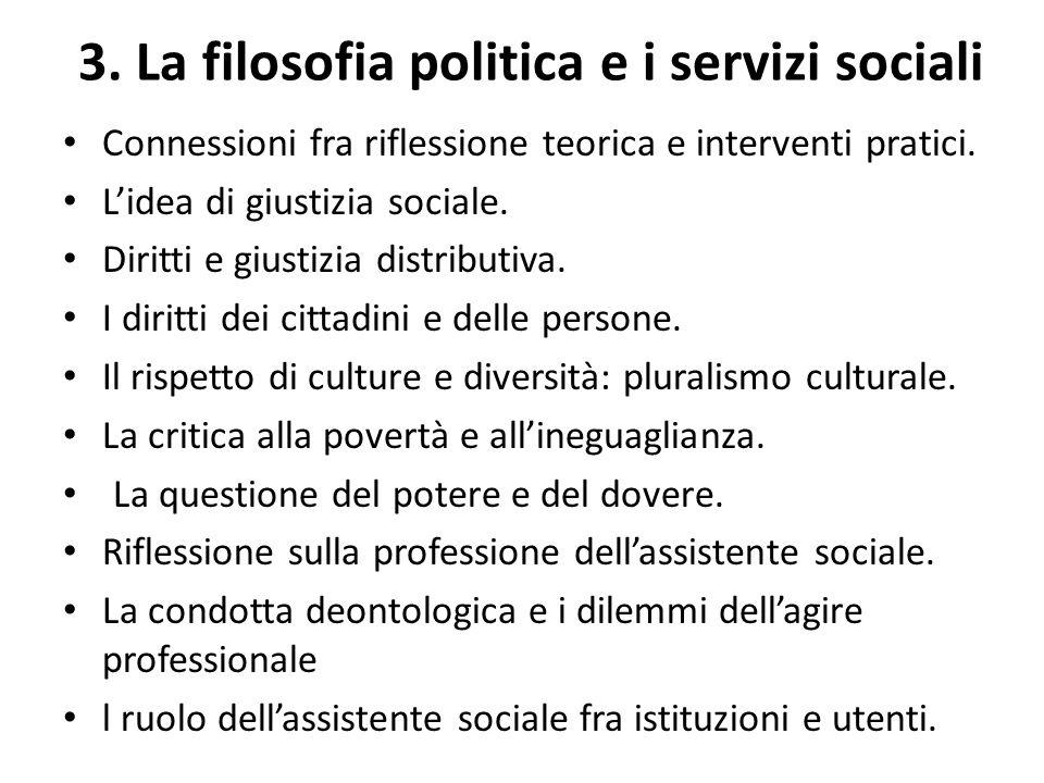 3. La filosofia politica e i servizi sociali