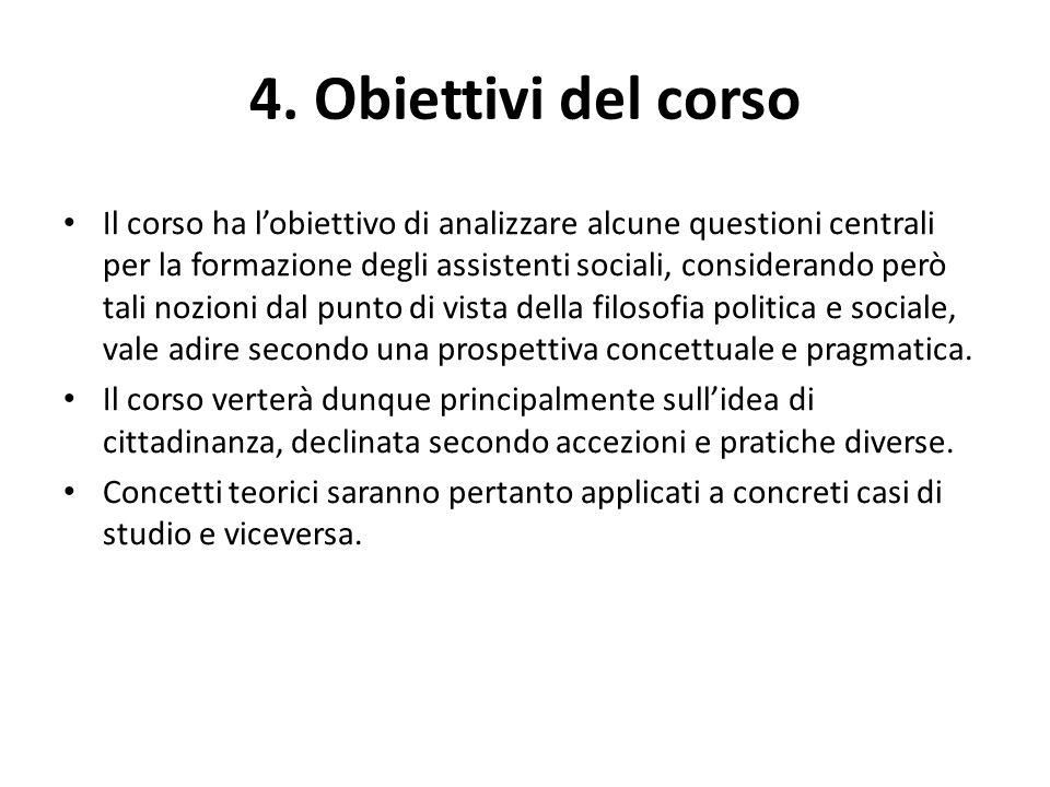 4. Obiettivi del corso
