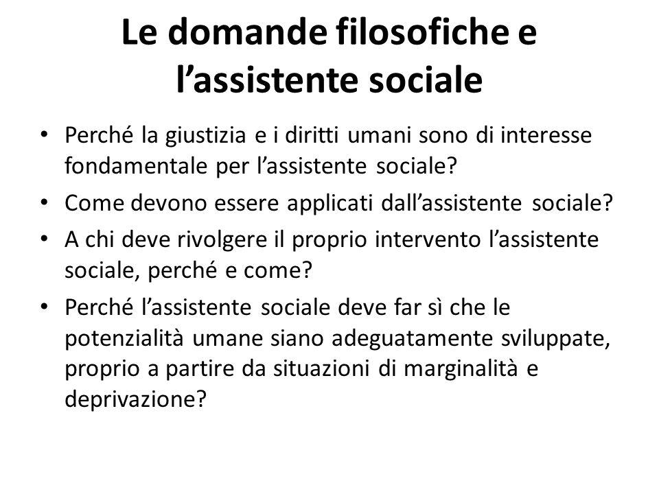 Le domande filosofiche e l'assistente sociale