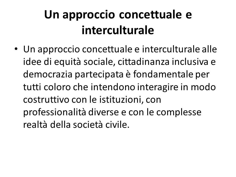 Un approccio concettuale e interculturale