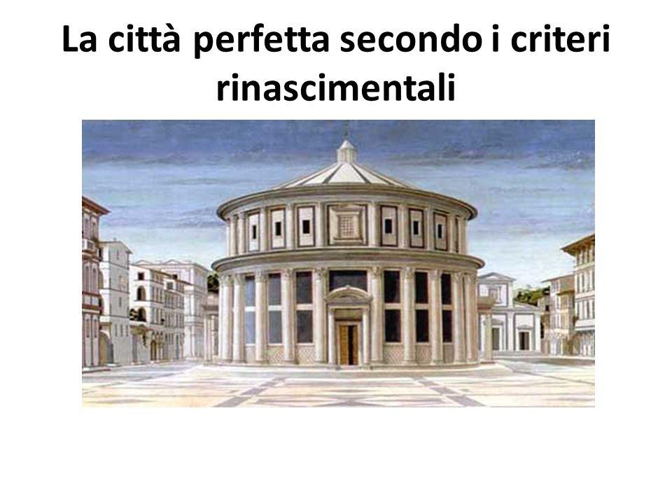 La città perfetta secondo i criteri rinascimentali