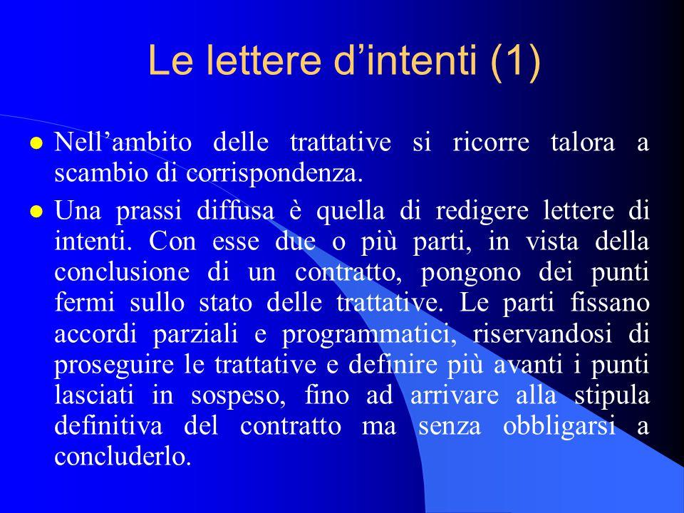 Le lettere d'intenti (1)