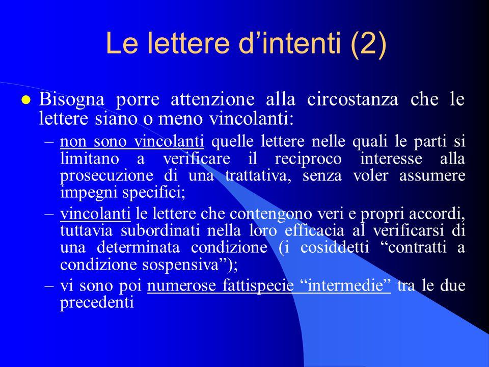 Le lettere d'intenti (2)