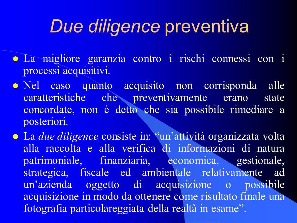 Due diligence preventiva