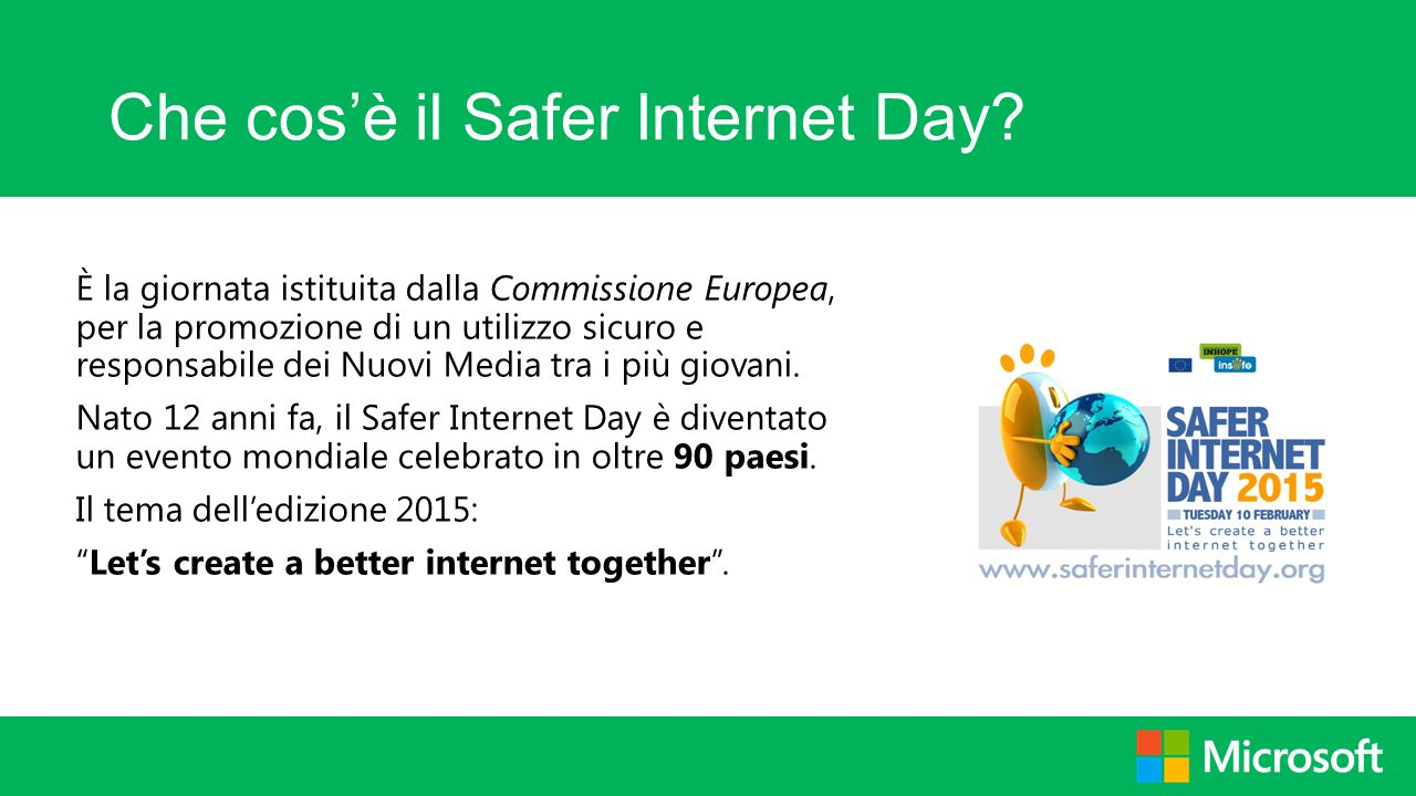 Che cos'è il Safer Internet Day