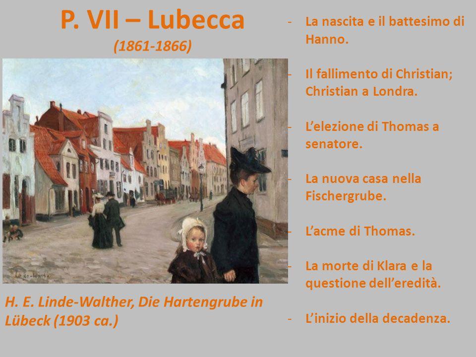 P. VII – Lubecca (1861-1866) La nascita e il battesimo di Hanno. Il fallimento di Christian; Christian a Londra.