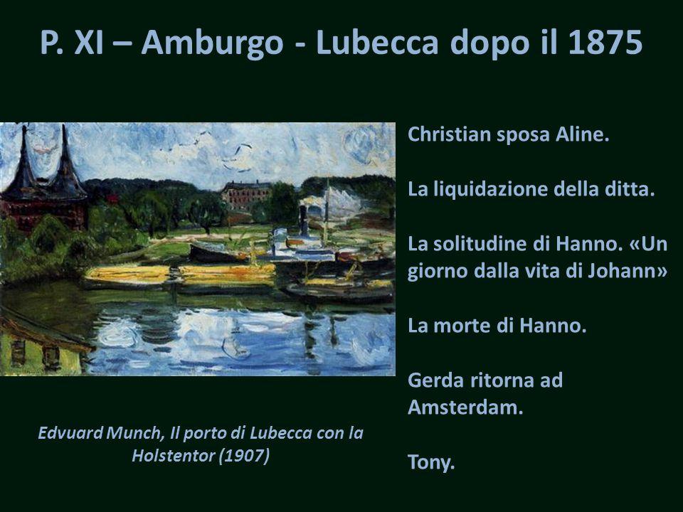 P. XI – Amburgo - Lubecca dopo il 1875