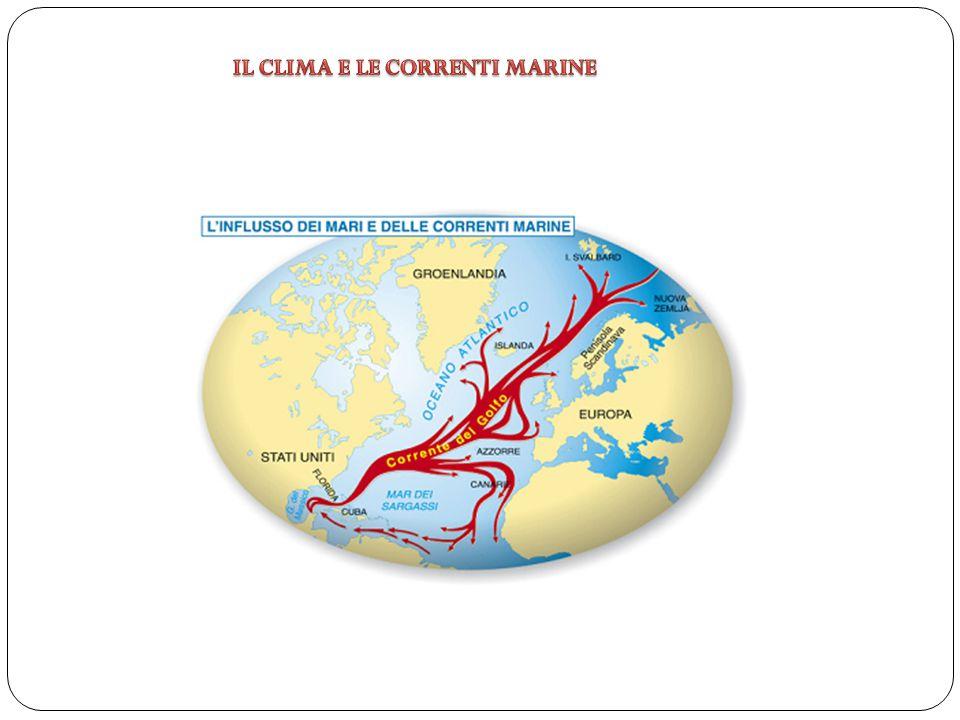 IL CLIMA E LE CORRENTI MARINE