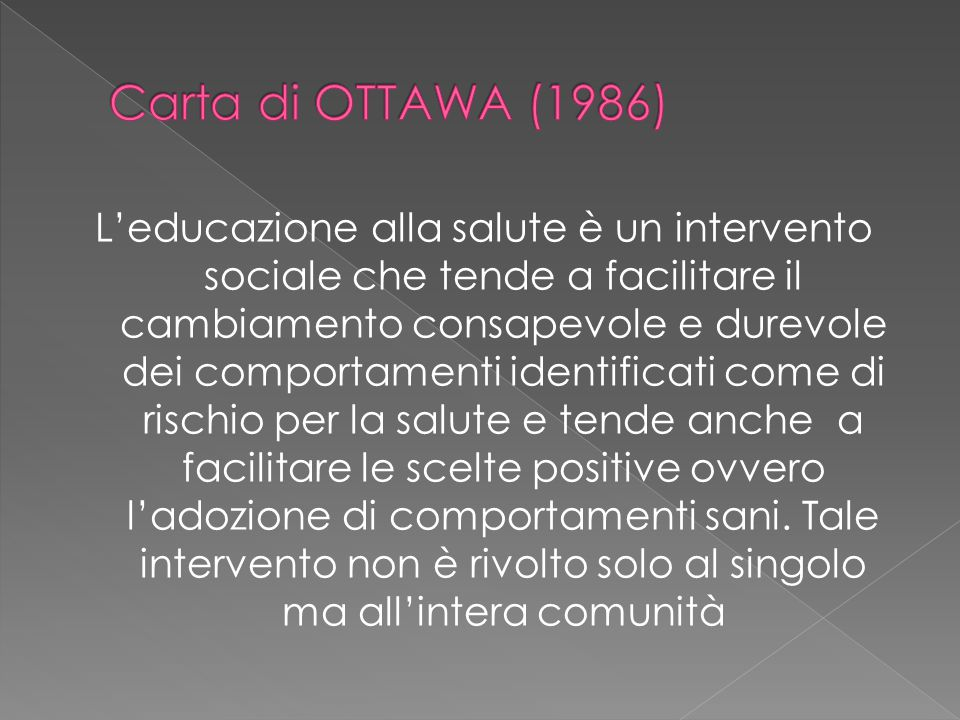 Carta di OTTAWA (1986)