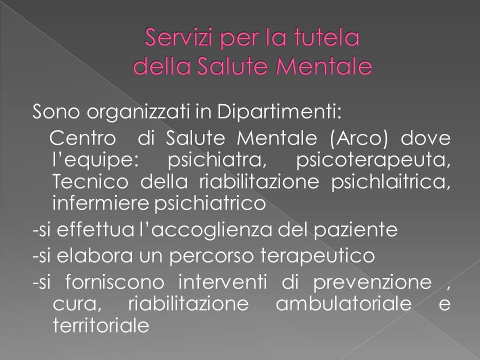 Servizi per la tutela della Salute Mentale