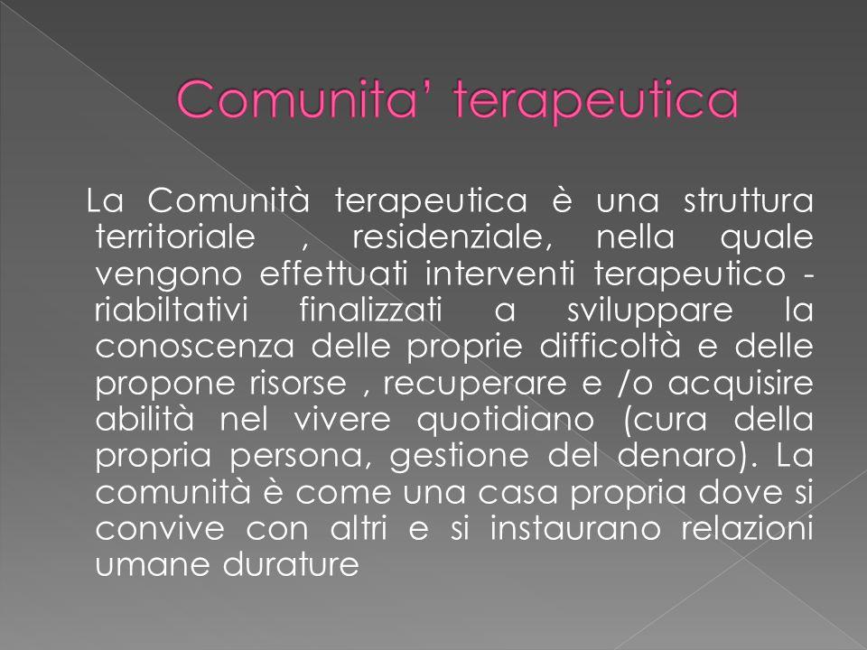 Comunita' terapeutica