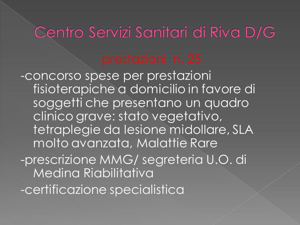 Centro Servizi Sanitari di Riva D/G