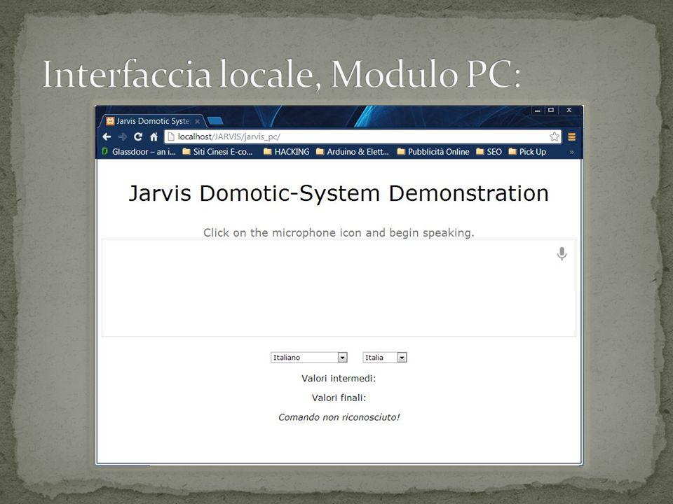 Interfaccia locale, Modulo PC: