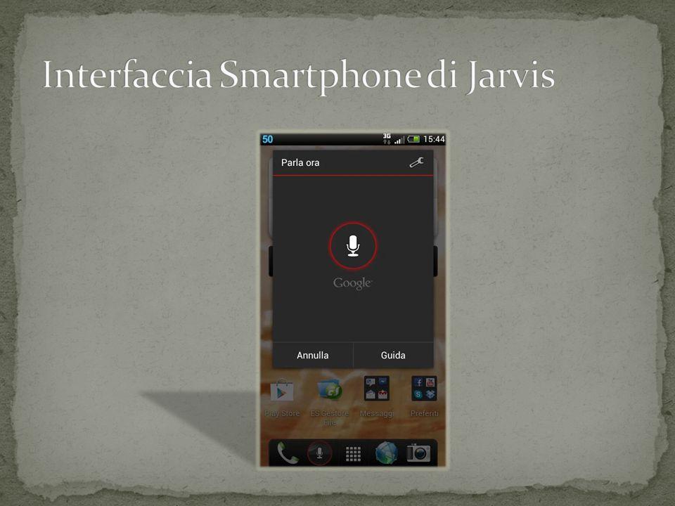 Interfaccia Smartphone di Jarvis
